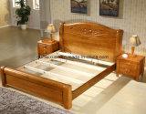 Твердые деревянные кровати современные двуспальные кровати (M-X2267)