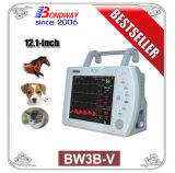 Múltiples parámetros Monitor portátil de veterinaria, ISO, ECG, PNI, SpO2, temperatura, pulso, Opcional de ETCO2, presión, registrador incorporado, el precio de Monitor de veterinaria