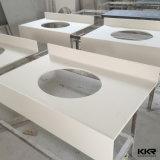 Kkr blanc fait sur mesure de haute qualité de la pierre artificielle Vanity Tops