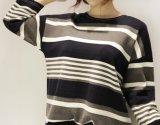 착색된 100%년 면 숙녀 형식은 우연한 편리한 t-셔츠를 줄무늬로 한다