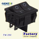 Botón 2 de 6 a 4 contactos del interruptor basculante 250 VAC.