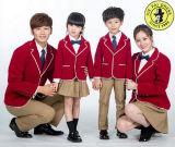 La coutume du printemps et automne les uniformes scolaires uniformes de la maternelle Design Logo