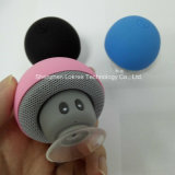 Mini altavoz portable de Kickstand Bluetooth de la seta con la taza de la succión del Mic
