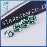 6X6mm 방석 화려한 커트 녹색 판매를 위한 다채로운 느슨한 Moissanite 다이아몬드