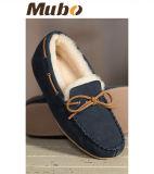 人のための自然なオーストラリアのMerino羊皮の余暇の靴