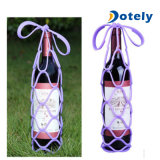 Support de bac réutilisable de sac de course de porte-bouteilles de vin de silicones