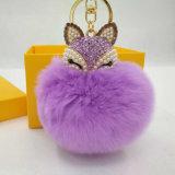 Pelliccia reale Keychain del coniglio dei grandi anelli portachiavi eccellenti all'ingrosso poco costosi della pelliccia Ball/POM POM