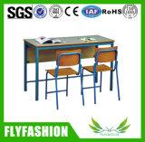Moderner doppelter Gesichts-Schule-Bibliotheks-Anzeigen-Schreibtisch für Verkauf (ST-38)
