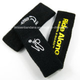 Logotipo personalizado OEM de fábrica Bordados Sport Basquete toalha de algodão preto suor ajustável