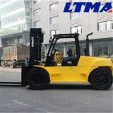 Prix diesel lourd de chariot élévateur de Mechine 10t de chariot élévateur de Ltma