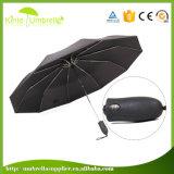 La qualité automatique ouvrent et ferment le parapluie de pli de 3 cadeaux