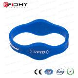 Wristband feito sob encomenda do silicone do partido RFID do número de série de Lasering para o festival