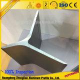 A seção oca manufatura o entalhe de alumínio industrial do perfil T