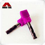 Alta calidad de HRC60 Carbide molinos de extremo cuadrado con 4 Flautas