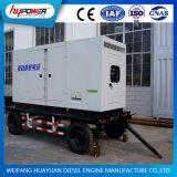 100kw移動式トレーラーのWeichaiの水によって冷却されるエンジンを搭載するディーゼル発電機セット