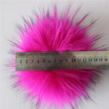 Het pluizige Bont Pompom van de Decoratie van de Pompon van het Bont van Keychain van de Bal van het Bont van de Wasbeer