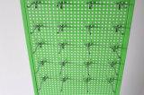 La situación libre 2 echó a un lado estante de visualización de Pegboard de los ganchos de leva del material del metal
