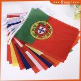 O poliéster 32 Países Bandeira de string para a Rússia Copa do Mundo