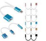 2018 Ceia Banheira de 2 em 1 adaptador de tomada para auscultadores e adaptador de carregamento para iPhone 7 7plus