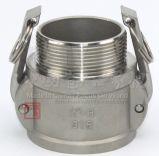 Type couplage de C.C du SUS 304 d'acier inoxydable de Qucik de connecteur