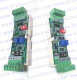 L'amplificateur analogique de capteur de pression de piézoélectrique pour 4-20mA ou 0-10V a sorti avec DIN (TA12)