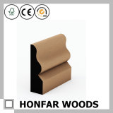Placa de contorno de madeira do folheado do material de construção