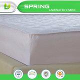 Protetor acolchoado impermeável macio do colchão da caixa branca da tampa do colchão