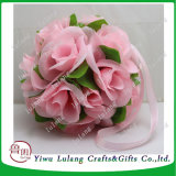 カスタマイズされた絹のローズの接吻の球の装飾的なハングの人工花の球