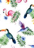 Digital gedruckter Flamingo-Entwurfs-Seide-Schal