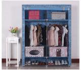 간단한 현대 접히는 직물 휴대용 침실 옷장 디자인