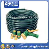 Boyau de jardin de tissu-renforcé de haute résistance de PVC de vert