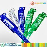 Glitter do costume NTAG213 e Wristbands metálicos de RFID para eventos