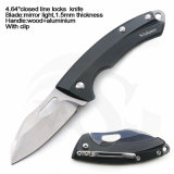 """4.64 """"閉じるAluminium+Woodのハンドルミラーの終了する刃のばねの助手のナイフ"""