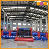Campo de jogos inflável do futebol do sabão inflável azul e vermelho do campo de jogos (AQ1806-18)