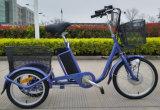 Трицикл горячего колеса дюйма 36V 250W 3 сбывания 20 электрический для взрослых