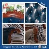 [رويفوإكسينغ] زرقاء اجتماع أريكة كرسي تثبيت مع جلد وبناء لأنّ [نو هووس] ([و215د])