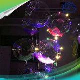 Aerostato trasparente dell'elio di illuminazione del partito LED del biglietto di S. Valentino di natale