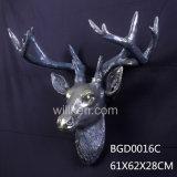 Esinの動物のシカヘッドまたはホーム装飾の樹脂の動物のヘッド壁の装飾