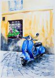Het Met de hand gemaakte Olieverfschilderij van uitstekende kwaliteit van het Ontwerp van de Motor