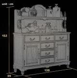 Novo design moderno da gaveta de madeira maciça tórax (como807)