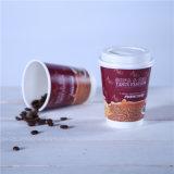 도매 두 배 벽 처분할 수 있는 종이컵 빨간 커피 잔