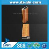Grão de madeira da tubulação da câmara de ar do perfil da porta do indicador de alumínio de Líbia