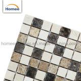 Pared gris baldosa mosaico de mármol crema marfil y de la luz de Emperador Emperador Oscuro