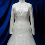 Vestido de casamento muçulmano feito-à-medida da alta qualidade