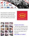 De Rand van de motorfiets voor de Titaan van Bajaj Pulsar/Cg/Ybr/Ax100/Dx70/Daker200