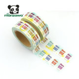 10m装飾のための明るく多彩なコーヒーカップパターン覆うペーパーマレーシアWashiテープ