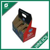 6 botellas de vino tinto y blanco caja de cartón soporte