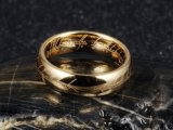 Staal van het wolfram graveerde Lord van de Ring