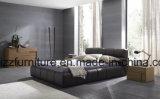 大きいデザイン寝室のための現代熱い販売の革ベッド