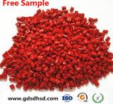 Couleur rouge en plastique masterbatch pour la filature produits (PP, PE, HDPE, PEBD)